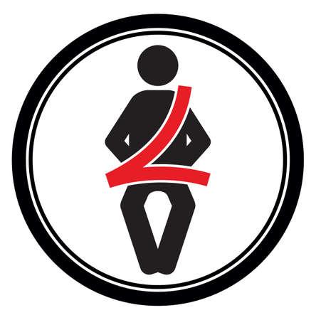 seat belt sign Stock Vector - 22363141