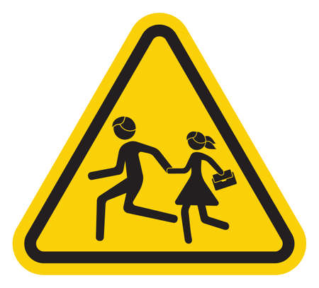 señal de transito: muestra de la escuela advertencia