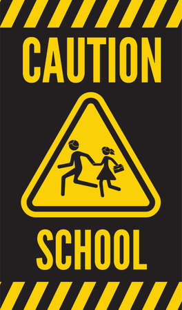 warning school sign Stock Vector - 22363150