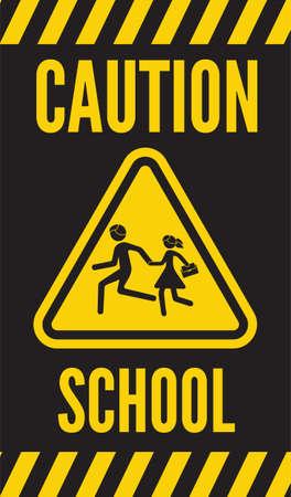 warning school sign Stock Vector - 22363150