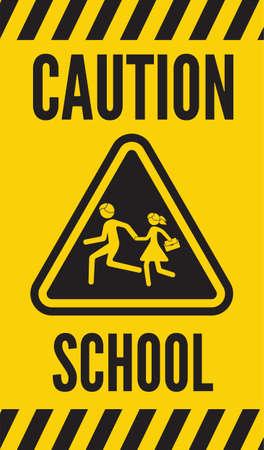 pedestrian: warning school sign