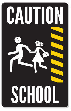 warning school sign Stock Vector - 22363153