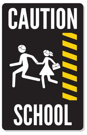 warning school sign Stock Vector - 22363153