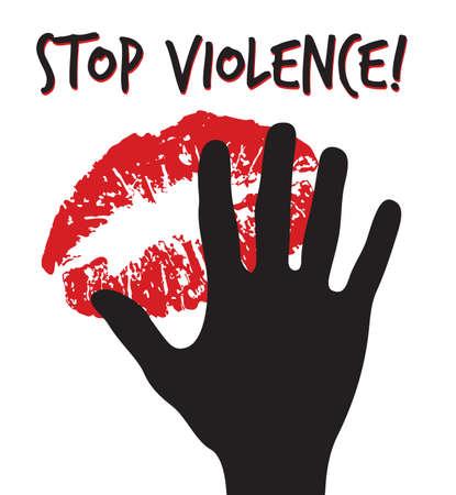 暴力の看板を停止します。