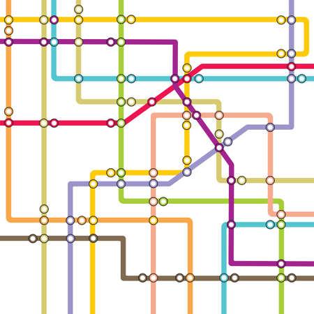 subway station: Subway - metro map Illustration