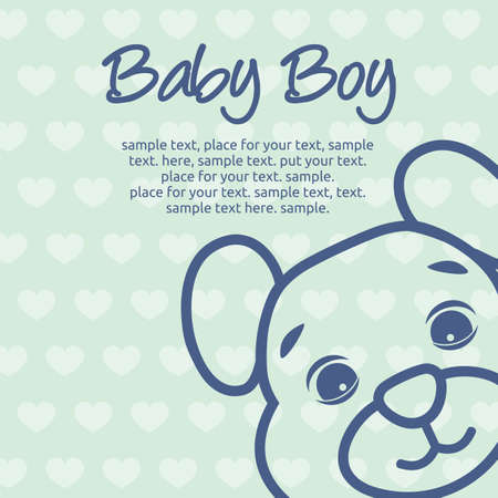 baby announcement card: baby boy announcement card