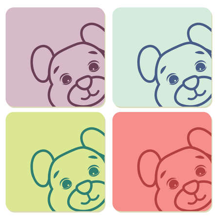 teddy bear labels Vector