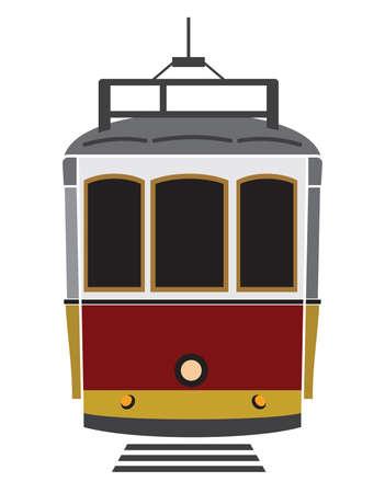 tramway: Lisbona tram Vettoriali