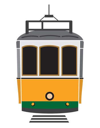 リスボンの路面電車  イラスト・ベクター素材