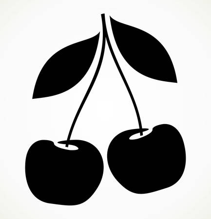 sour cherry: cherry berries icon