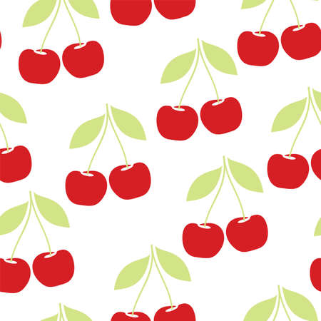 cherry seamless pattern Illustration