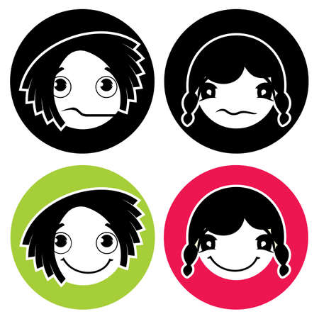 Face Expression Icons Vector