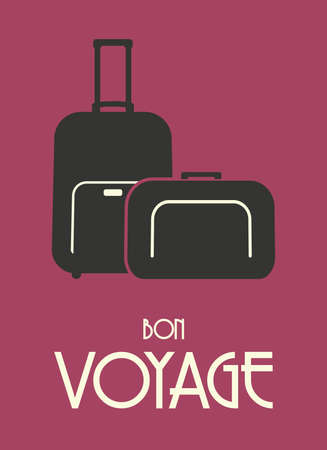 Travel bags retro poster Vector