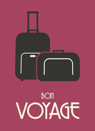 Travel bags retro poster