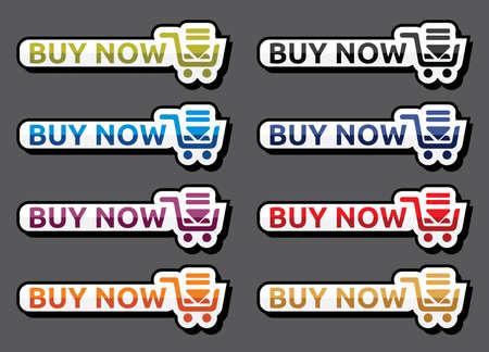 Buy now icon set Vector