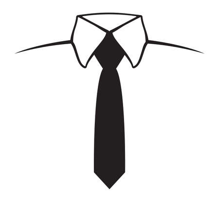 neck ties: Tie Icon Illustration