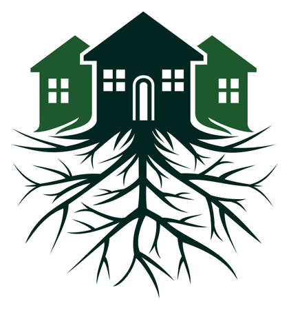 House with root Stock Vector - 23348769