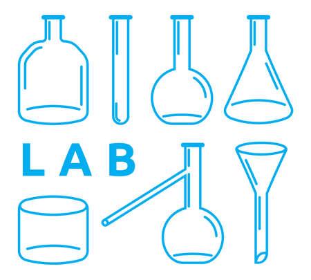 laboratory equipment: set of laboratory equipment