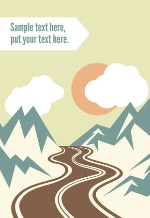 forrest: Retro road trip poster Illustration