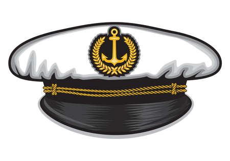 captain: captain cap Illustration