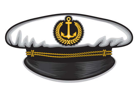 captain cap Stock Illustratie