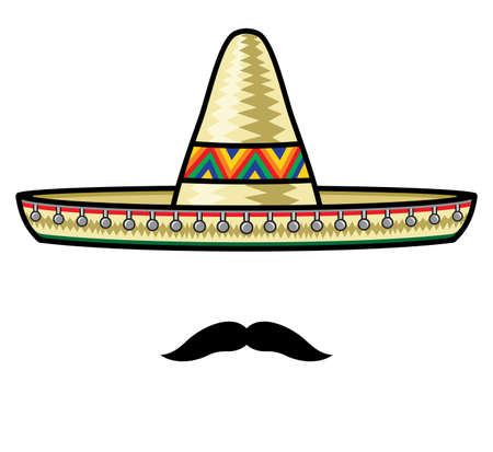 poncho: Sombrero and moustache