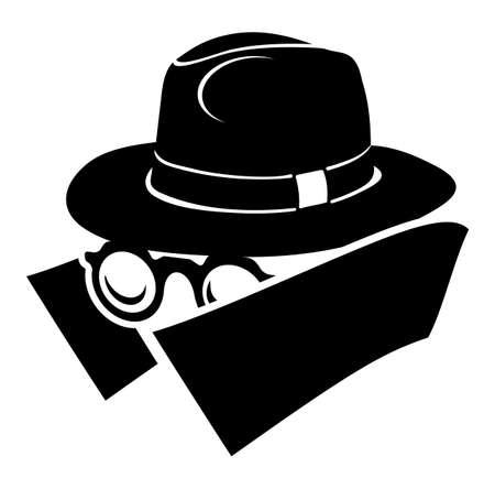 chapeau blanc: Spy ic�ne