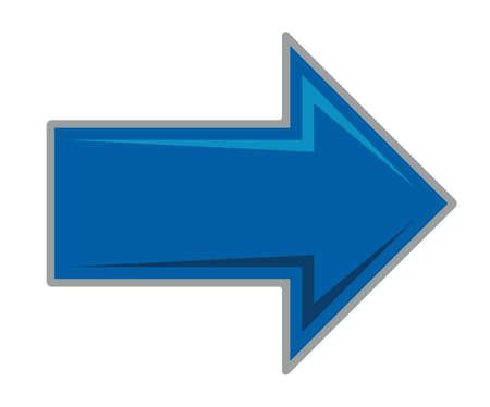 flecha azul: Blue arrow