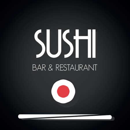 chopsticks: Sushi menu card template Illustration