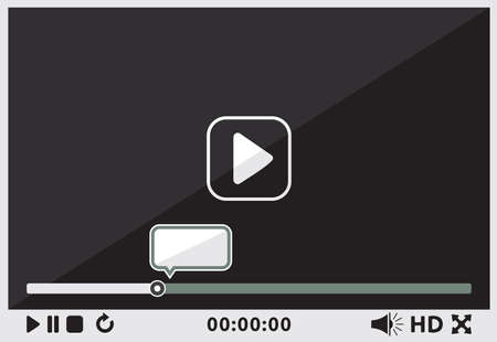 Video player interface Stock Vector - 23348824