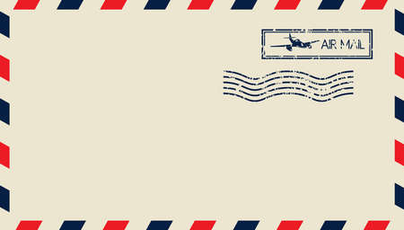 postcard back: Airmail