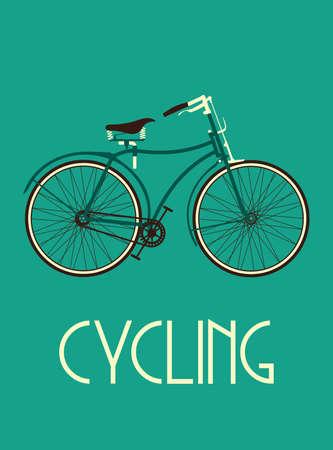 bicycle wheel: Retro bike poster