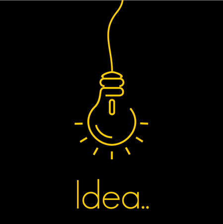 thin bulb: Idea concept thin icon