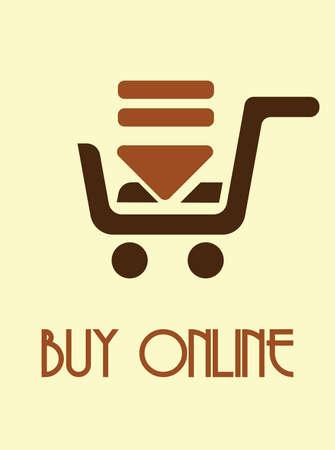 export import: Buy online poster Illustration