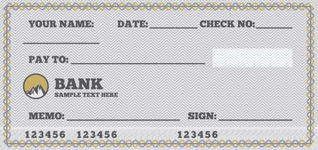 fake money: Cheque en blanco