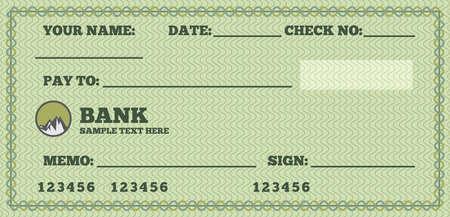 Blank check Vector