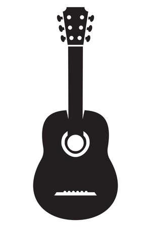 acoustic guitar: Vector Acoustic Guitar Icon