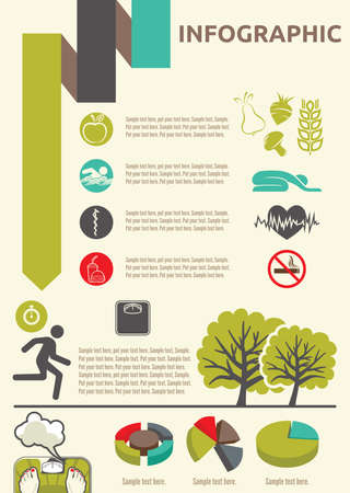 jogging in nature: Healthy lifestyle infographic