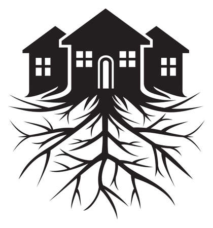 House with root Stock Vector - 23349025
