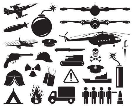 army gas mask: iconos militares