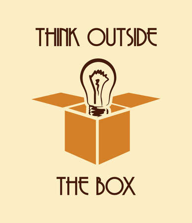 Think outside the box Vector