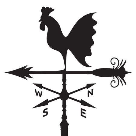 vane: rooster weather vane Illustration
