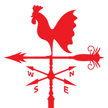 rooster weather vane: rooster weather vane Illustration