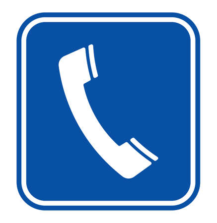 Telephone receiver sign Vector