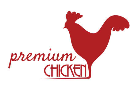 Premium chicken sign Vector