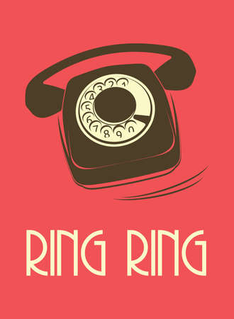 old phone: retro telephone poster