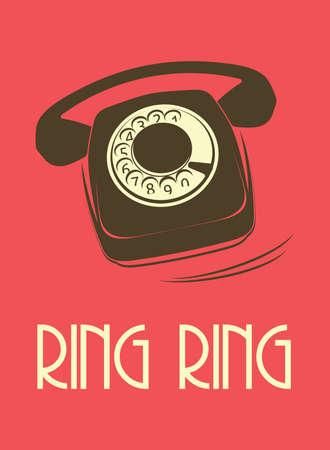 old phone: retro telephone poster