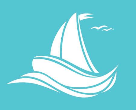 anchoring: sea and boat