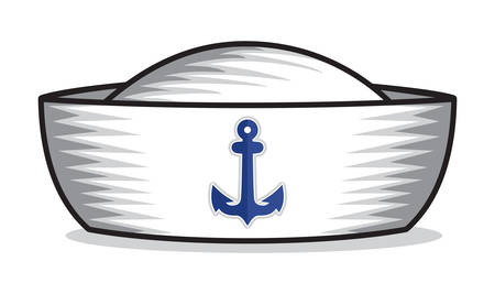 sailor hat Stock Illustratie