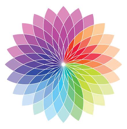 Blütenform Farbrad Standard-Bild - 23349137
